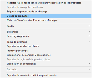 Módulo de Inventarios | Reportes del módulo 1/2