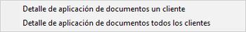 Pantallazo detalle de aplicación de documentos.