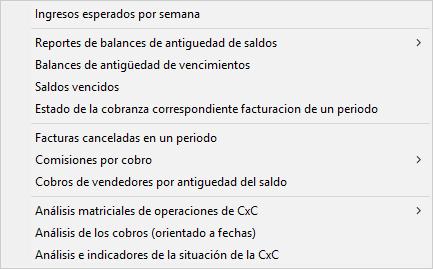 Pantallazo reporte módulo de cobros 2/2