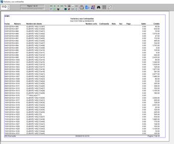 pantallazo facturas y sus contraseñas