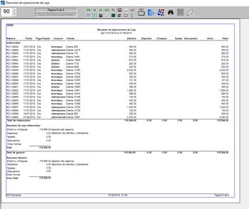 Pantallazo de resumen operaciones con usuarios
