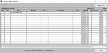 Consulta documentos de pago en el sistema módulo pagos