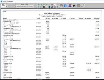 Pagos saldos vencidos por documentos