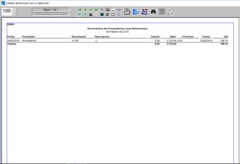 Pagos listados de facturas con retención ISR