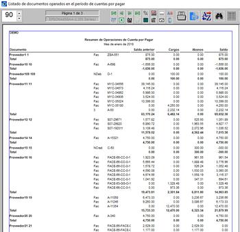 Pagos resumen de operaciones por documento