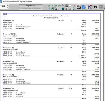 Pagos documentos de proveedores con detalle contable. Con nombre de cuenta contable